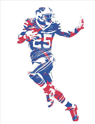 Lesean Mccoy Buffalo Bills Pixel Art 14 Art Print