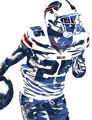 Lesean Mccoy Buffalo Bills Pixel Art 2 Art Print