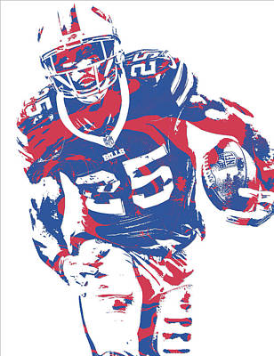 Lesean Mccoy Buffalo Bills Pixel Art 20 Art Print