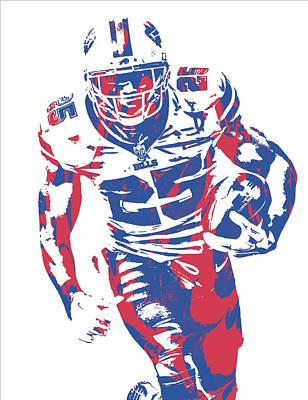 Lesean Mccoy Buffalo Bills Pixel Art 21 Art Print