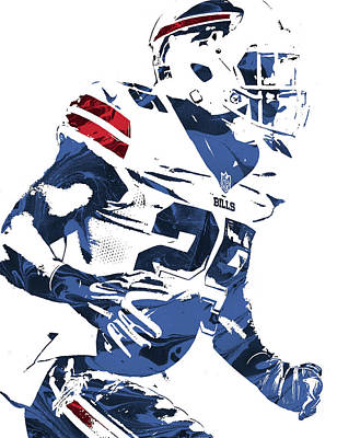 Lesean Mccoy Buffalo Bills Pixel Art 3 Art Print