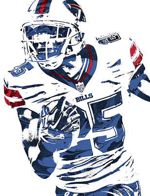 Lesean Mccoy Buffalo Bills Pixel Art Art Print