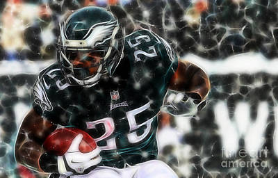 Mixed Media - Lesean Mccoy Collection by Marvin Blaine