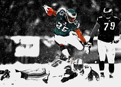 Running Back Mixed Media - Lesean Mccoy Soar Like An Eagle by Brian Reaves