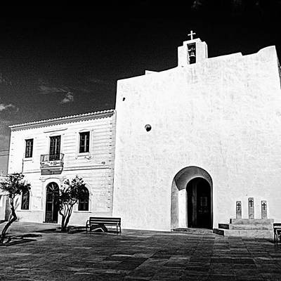 Monochrome Photograph - Fortified Church, Formentera by John Edwards