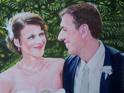 Mixed Media - Leslie And Miles by Constance DRESCHER