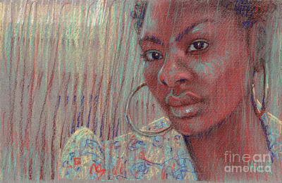 Drawing - Leslie K by Donald Maier