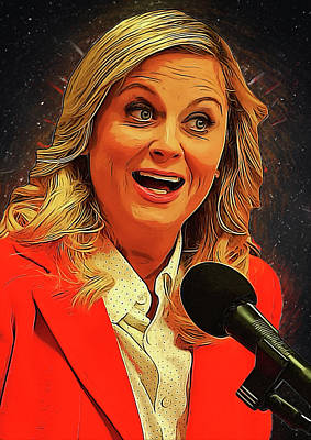 Communion Digital Art - Leslie Knope by Semih Yurdabak