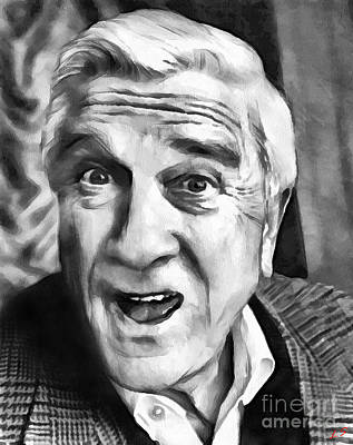 Drawing - Leslie Nielsen Collection - 1 by Sergey Lukashin