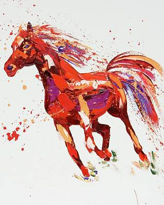 Horse Painting - L'espirit by Penny Warden