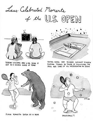 Serena Williams Photograph - Less Celebrated Moments Of The U.s. Open by Emily Flake