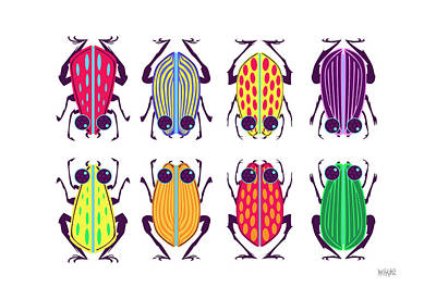 Bug Digital Art - Less-than-creepy Crawlies by Geoffrey C Lewis