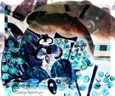 Digital Art - Less Time by Delight Worthyn