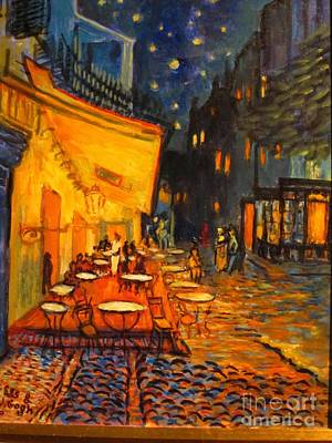 Les's Van Gogh Night Cafe  Original by Les Smith