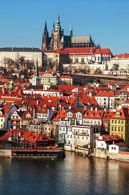 Photograph - Lesser Town And St Vitus Cathedral. Prague by Jenny Rainbow