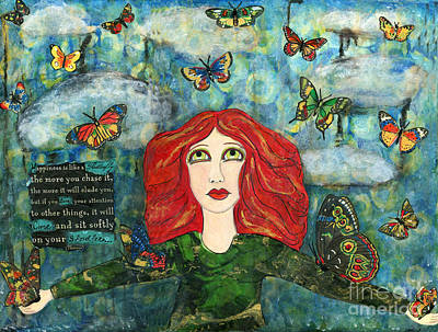 Lessons From A Butterfly Art Print