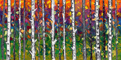 Lessons Of The Birch Art Print