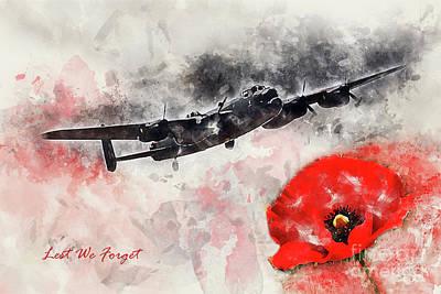 Remembrance Digital Art - Lest We Forget by J Biggadike