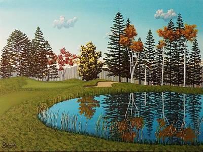 Lester Park Golf #17 Original by Dan Shefchik
