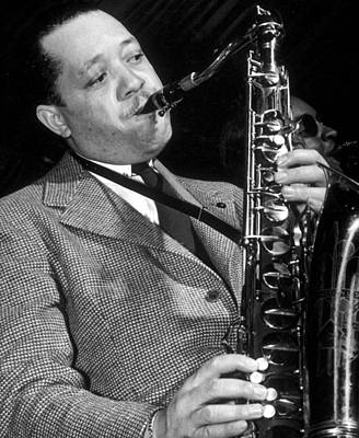 Saxophone Player Photograph - Lester Young  by American School