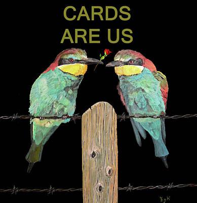 Mixed Media - Lesvos Birds by Eric Kempson