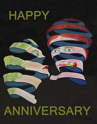 Mixed Media - Lesvos Rose Happy Anniversary  by Eric Kempson