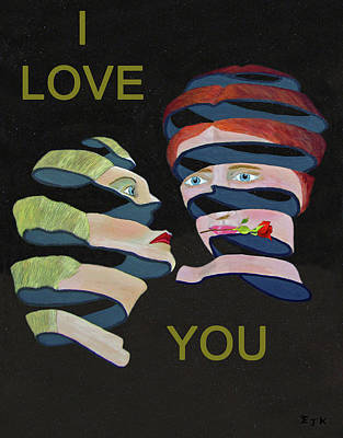 Mixed Media - Lesvos Rose I Love You by Eric Kempson