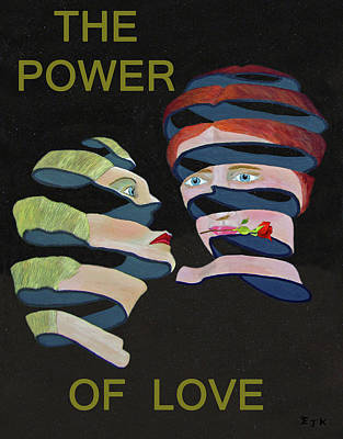 Mixed Media - Lesvos Rose The Power Of Love by Eric Kempson