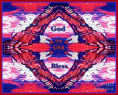 Red White And Blue Mixed Media - Let Freedom Ring For All Americans by Kimberlee Baxter