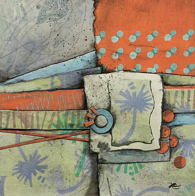 Orange Mixed Media - Let Go With A Gentle Breeze by Laura Lein-Svencner