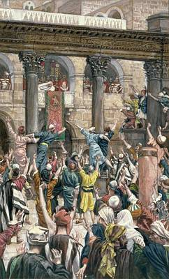 Crowds Painting - Let Him Be Crucified by Tissot
