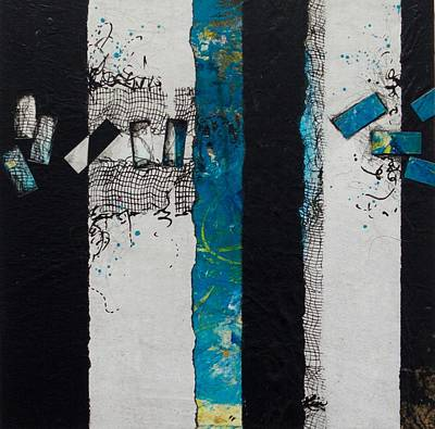 Black Mixed Media - Let It Flow by Laura Lein-Svencner