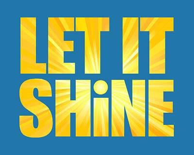 Digital Art - Let It Shine Sun by Ginny Gaura