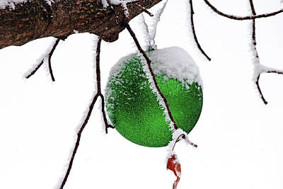 Photograph - Let It Snow Christmas Ornament by Debbie Oppermann
