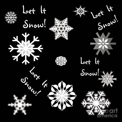 Digital Art - Let It Snow Color Choice by Methune Hively