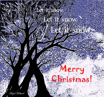 Painting - Let It Snow by Hazel Holland