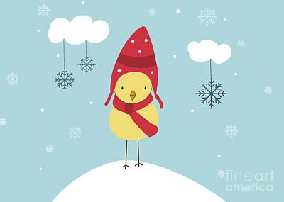 Holidays Digital Art - Let It Snow by Kathrin Legg