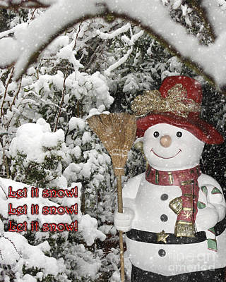 Photograph - Let It Snow Let It Snow Let It Snow by Terri Waters