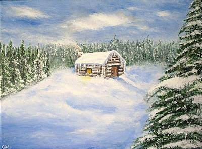 Wall Art - Painting - Let It Snow by Lisa Cini