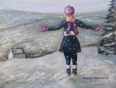 Painting - Let It Snow by Robert Harrington