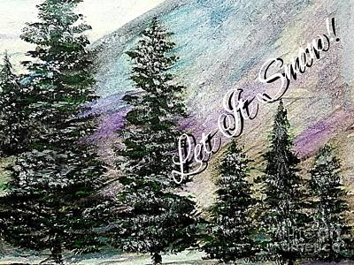 Bob Ross Drawing - Let It Snow Greeting Card by Scott D Van Osdol