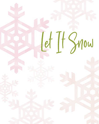 Digital Art - Let It Snow Snowflakes- Art By Linda Woods by Linda Woods