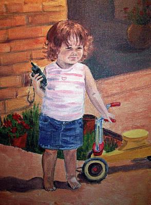 Let Me Call Papa Art Print by Irina Sztukowski