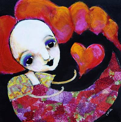Wall Art - Mixed Media - Let Me Call You Sweetheart by Jen Walls