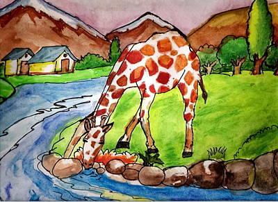 Let Me Drink Art Print by Archit Singh