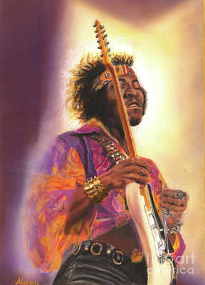 James Marshall Jimi Hendrix Painting - Jimi Hendrix Let Me Stand Next To  Your Fire by Alex Artman