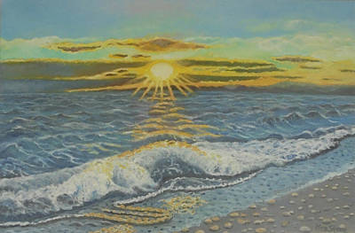 Sunset Painting - Let Me Stay Until The End by Petra Theodoridou