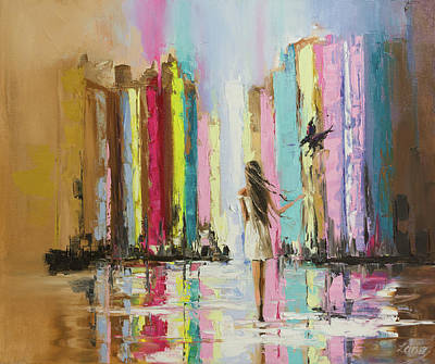 Huginn Painting - Let Me Tell You A Story... by Svetlana Tikhonova