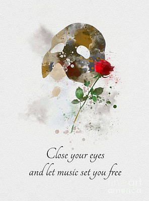 Mixed Media - Let Music Set You Free by Rebecca Jenkins
