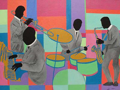 Painting - Let The Band Play by Angelo Thomas